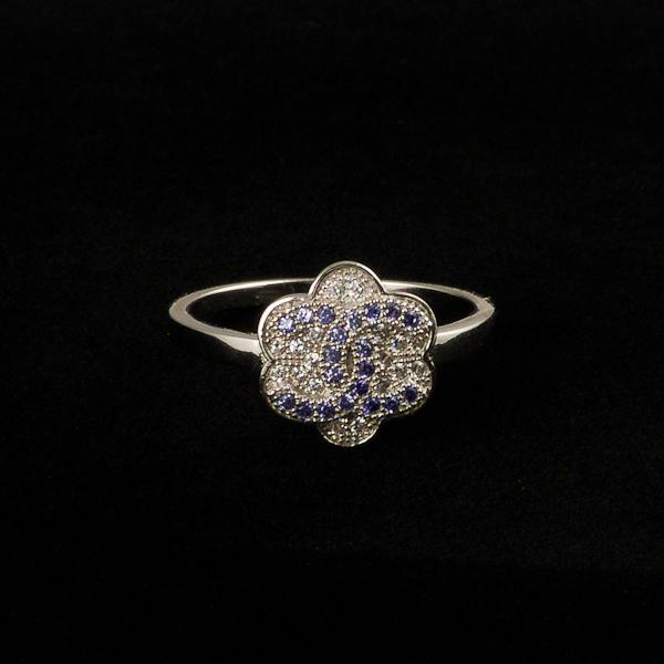 Inel argint Chanel