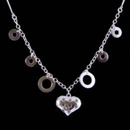 Colier argint cu pandantiv in forma de inima