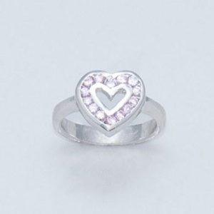 inel argint inima