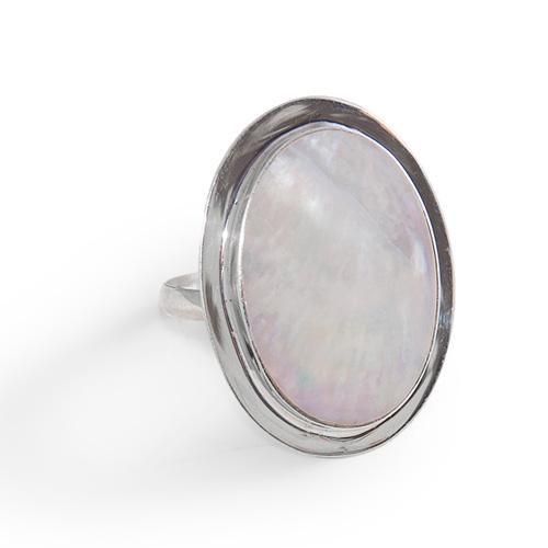 Inel argint reglabil cu sidef