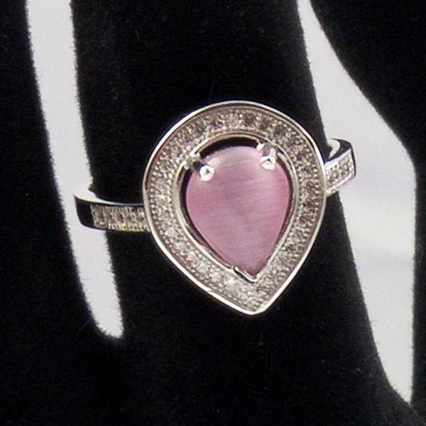 inel cu piatra roz