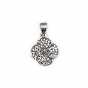 Pandantiv floare argint