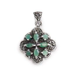 pandantiv cu smarald