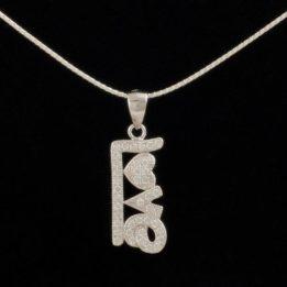 pandantiv love argint