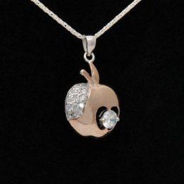 pandantiv argint roz