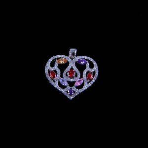 pandantiv argint inima
