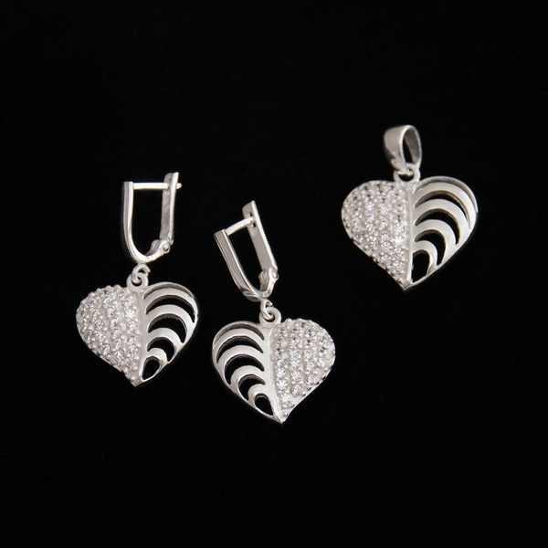 Set argint forma de inima