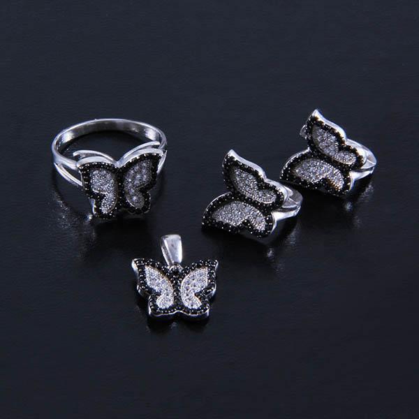 Set forma de fluturas din argint