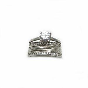 Inel aniversar logodna argint