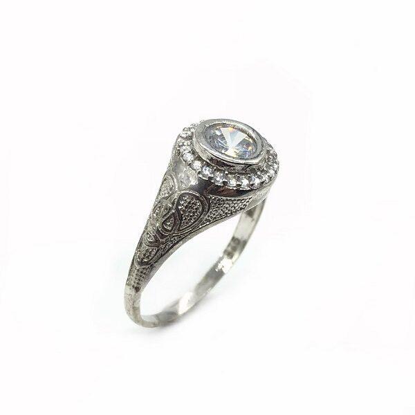 Inel gravat argint