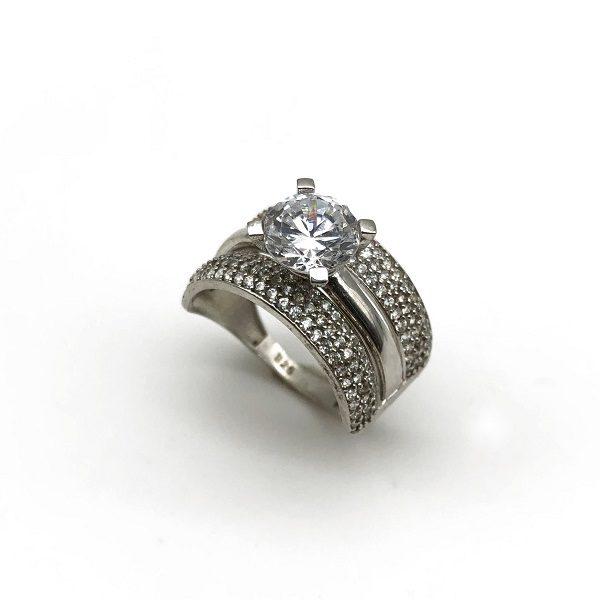 Inel de logodna cu verigheta din argint