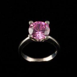 Inel argint cu zirconiu roz