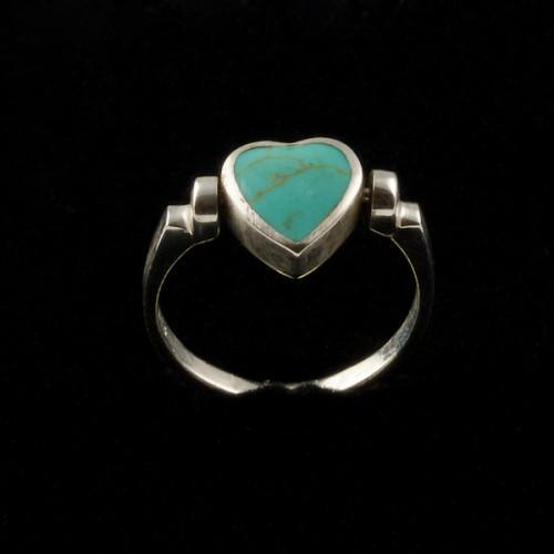 Inel turcoaz argint forma de inima