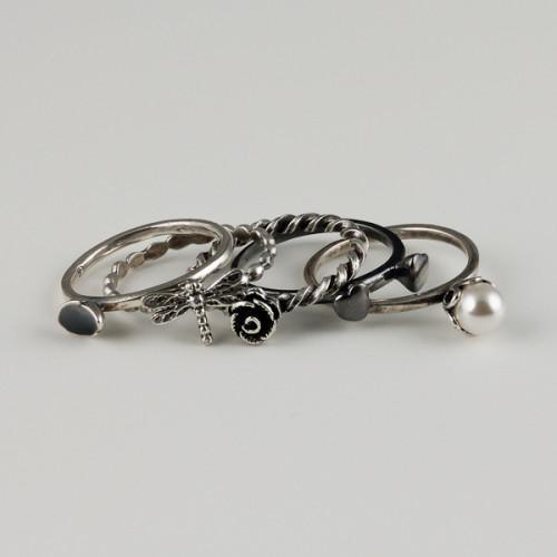 Inele tip Pandora argint x5