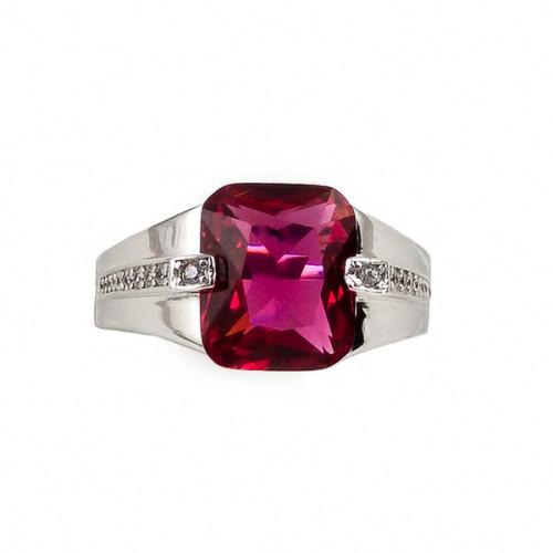 Inel argint cu zircon roz