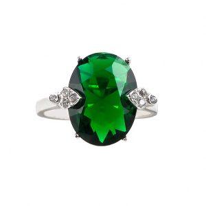 inel-piatra-verde-argint
