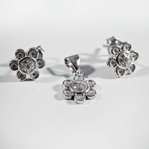 Set argint forma de floare