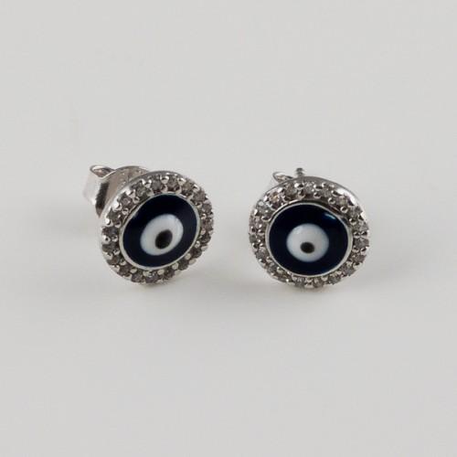 Cercei argint Evil Eye