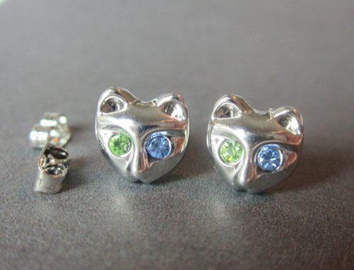 Cercei pisica cu cristale
