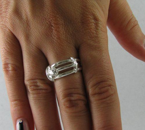 Inel argint broscuta saritoare