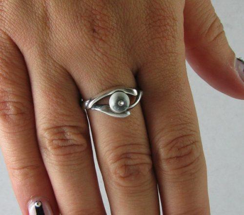 Inel argint cu Sidef si zirconiu