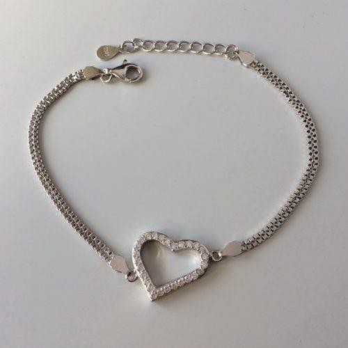 Bratara inima din argint