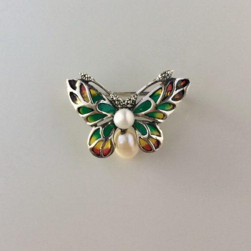 Brosa fluture din argint