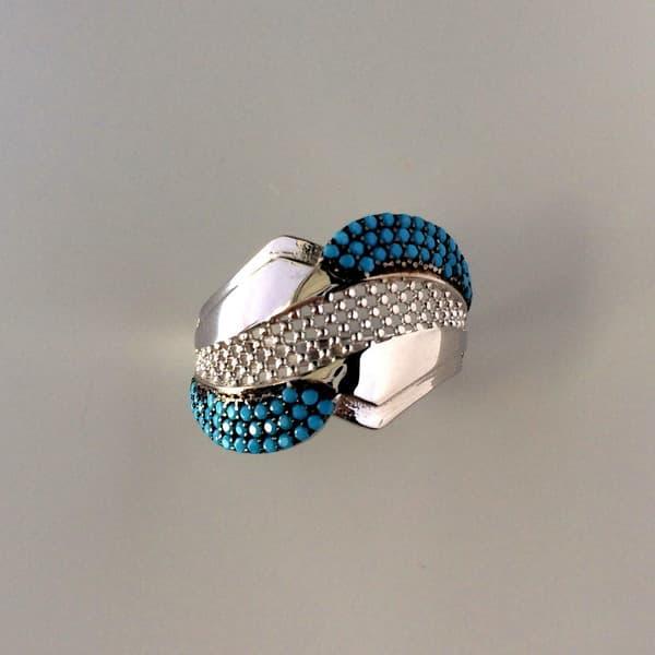 inel argint cu turcoaz
