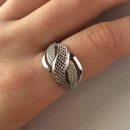 Inel argint zirconii