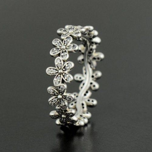 Inel argint model floral