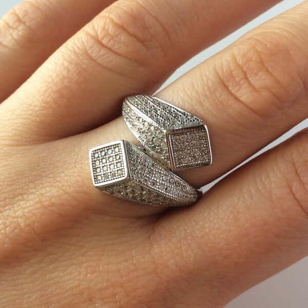 inel argint model 3D