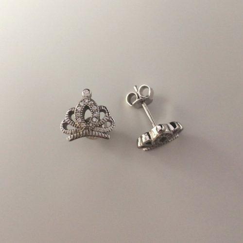 Cercei coroana din argint