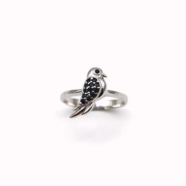 Inel argint rodiat Little Bird
