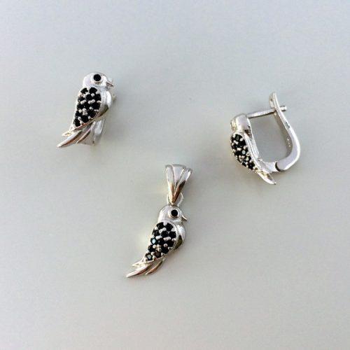 Set argint Little Bird