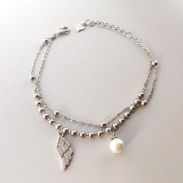 Bratara argint cu perla