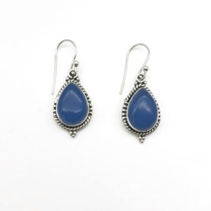 Cercei argint cu piatra albastra