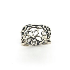 Inel din argint model floral