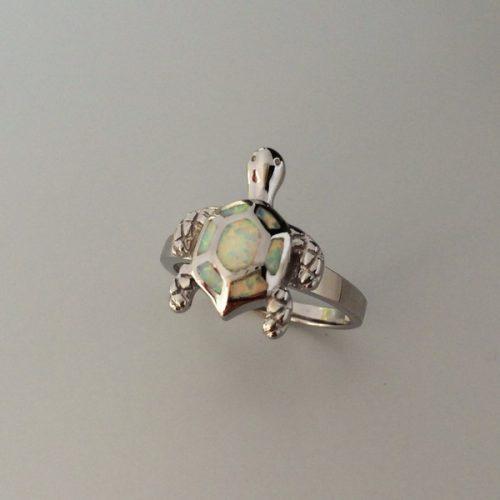 Inel Broasca Testoasa argint si Opal