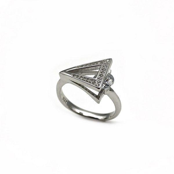 inel argint design italian
