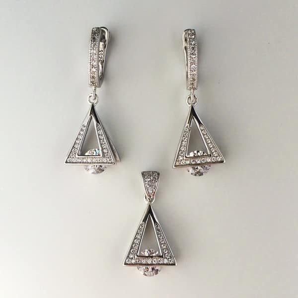 Set model minimal din argint