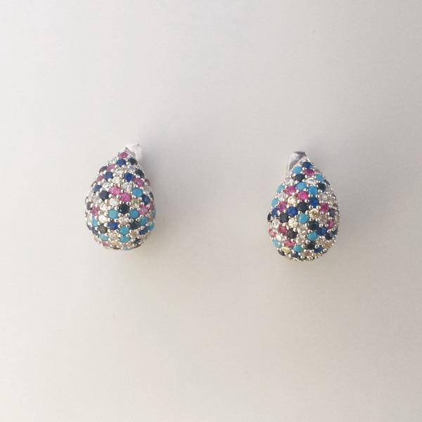 Cercei cu pietre colorate