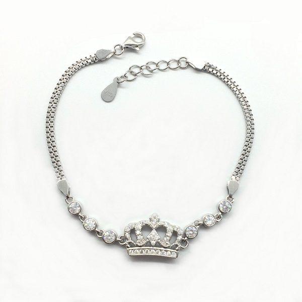 Bratara coroana argint