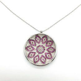 Colier argint Mandala
