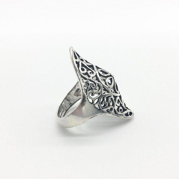 Inel argint lung