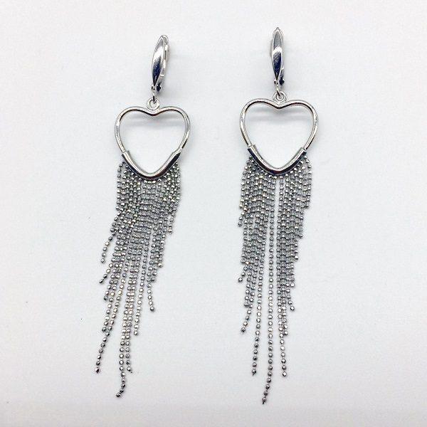 Cercei lungi argint