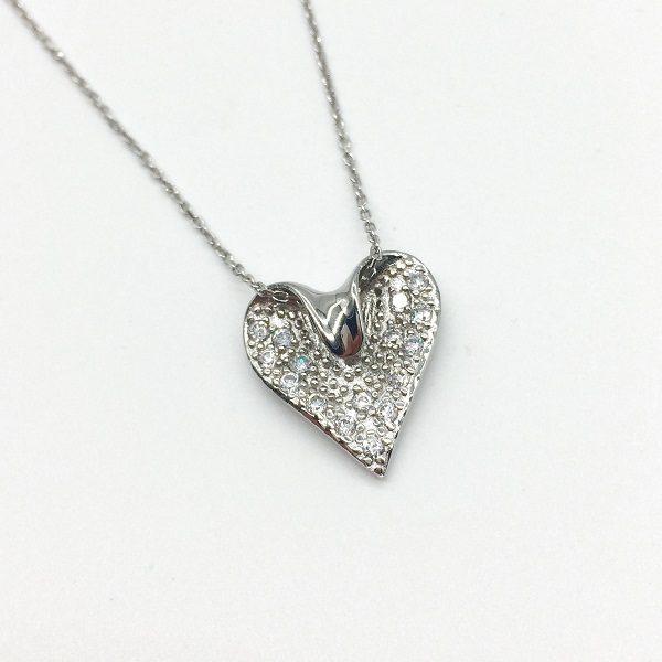 Colier din argint cu inimioara
