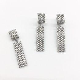 Set argint pietre