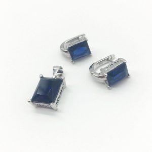 Set cu piatra albastra