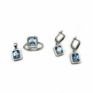 Set cu piatra albastra semipretioase
