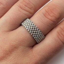 Inel argint pietre